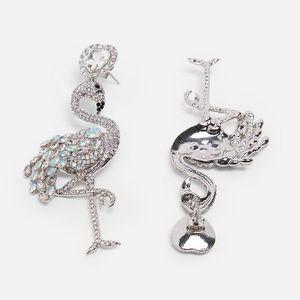 42f39194f Smitten Jewelry   Lets Flamingle Crystal Flamingo Earrings New ...